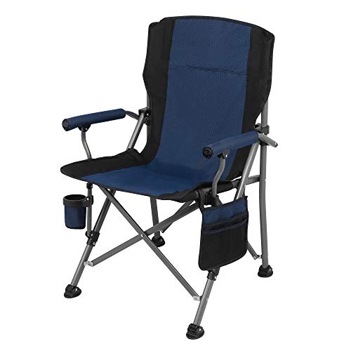 IBLUELOVER - Silla plegable de jardín portátil, silla de camping, altura ajustable, silla de trabajo plegable, silla exterior interior fiesta para picnic BBQ
