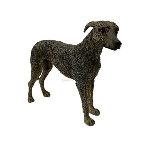 Darthome Ltd Lifelike Standing Grey Lurcher Dog Indoor Ornament Statue Figurine Resin Gift A 20cm