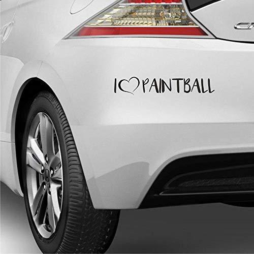 myrockshirt I Love Paintball ca 20cm Herz Hobby Liebe Aufkleber Autoaufkleber Profi-Qualität ohne Hintergrund Sticker