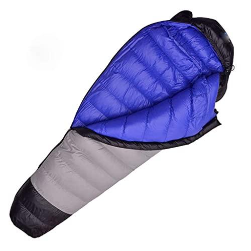 XHAEJ Bolsa de Dormir, estándar de Temperatura -25~0 ° C, llenado hacia Abajo, Equipo de Viaje Suave y cálido, al Aire Libre,luz