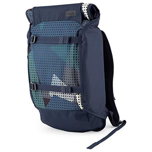 AEVOR Trip Pack - erweiterbarer Rucksack, ergonomisch, Laptopfach, wasserabweisend - Camo Drop - Blau