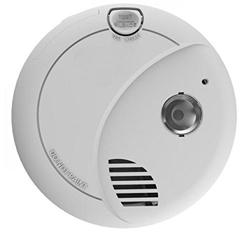 AngelEye SA720-AE-DER Rookmelder op batterijen met vluchtlicht voor gebruik in privéwoonruimtes, wit