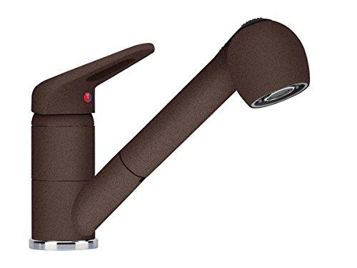 Franke Novara-Plus Chocolate Küchen-Armatur Hochdruck Schlauchbrause Einhandlmischer Mischbatterie