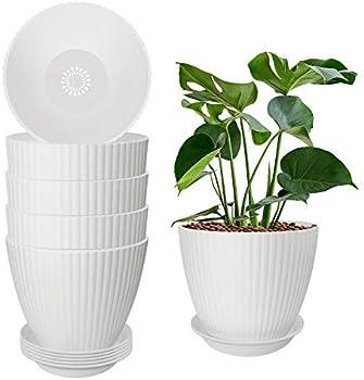 6-Pack Tetok 6.2 Inch Indoor Flower Plant Pots