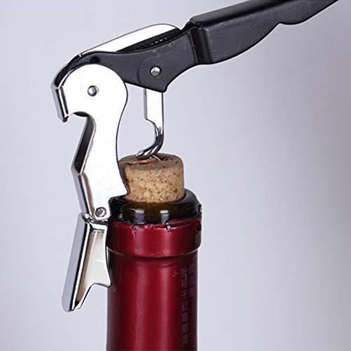 CYONGYOU Roestvrijstalen kurkentrekker schroef kurkentrekker dubbele scharnier ober wijn wijn kurkentrekker multifunctionele blik bier kurkentrekker