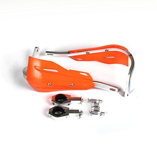 Moto Universal 22 mm y 28 mm Protecciones de mano de aluminio Protección de mano para Motocross Dirt Bike KTM EXC EXCF SX SXF SXS MXC XC XC XCF XCFW EGS Enduro (Naranja)