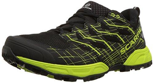 Scarpa Mens Neutron 2 GTX Trail Running Shoe, Black/Green Tender, 44 Medium EU (10.5 US)