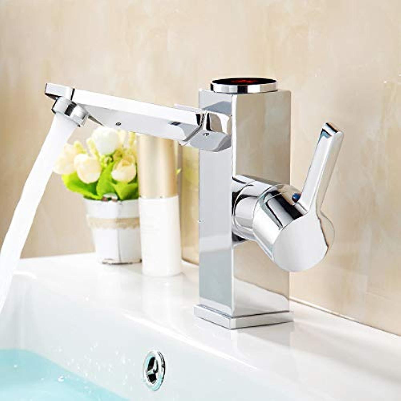 Wasserhahn Küche Bad Garten Setzen Sie Led-Digital-Becken Wasserhahn Wasser Power Basin Mixer Heraus. Massives Messing Verchromte Wasserhahn Smart Tap Ctzl6185