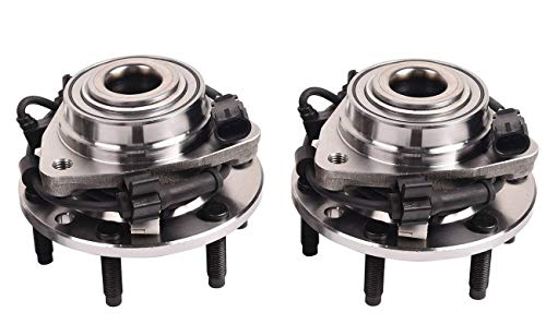 Bapmic 2PCS 513188 Front Wheel Hub Bearing Assembly for Chevrolet Trailblazer EXT GMC Envoy XL XUV 6 Lugs w/ABS