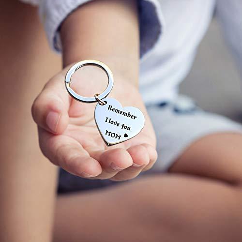Schlüsselanhänger aus Edelstahl mit Pfirsich-Herz, einzigartiger Druck, schöne Dekoration