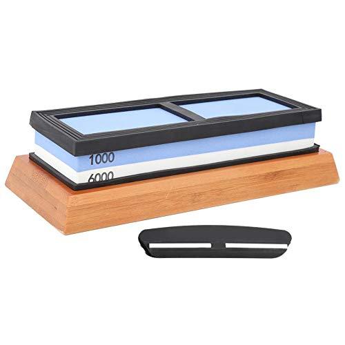 Doppelseitiger Schleifstein Küchenmesser Schärfer Schleifstein, Haushaltsweiß Geschmolzener Aluminiumoxid Schleifstein Messer Schärfstein, 1000-1600 Körner Messerschärfstein