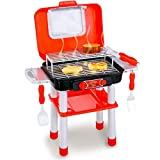 Liberty Imports Backyard Barbecue Grill Mini Portable Pretend Play Cooking Food BBQ Kitchen Toys with Light, Sound, Color Changing Effects for Kids