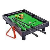 AJH Mini Table Top Football Table Mesa de Billar Juego de Billar Deportes para niños Mesa de Juegos portátil pequeña Almacenamiento fácil Ahorre Espacio Juegos interactiv