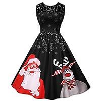 女性のクリスマスドレス、ラインパーティーホリデーカジュアルパーティードレス、エレガントなヴィンテージドレスカクテルドレス