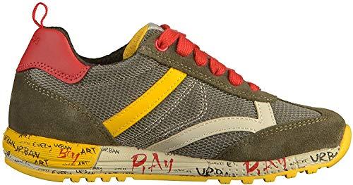 Geox J929EA Jungen und Mädchen Sneakers Military, EU 41