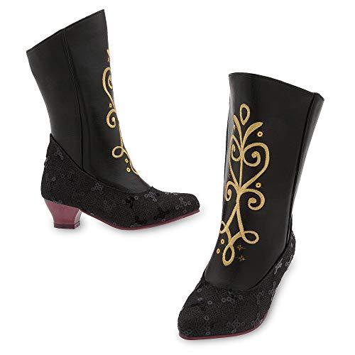 Disney Anna Costume Boots for Kids Size 2/3 YTH Black