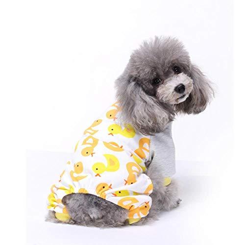 FHKGCD Huisdier Hond Slapende Kleding Winter Warm Jumpsuit Nachtjapon Katoen Pyjama Voor Kleine Hond Medium Hond Vrije tijd Jumpsuit