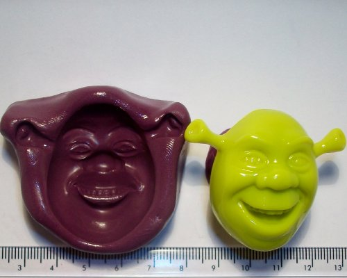Silicone Mould Shrek Icing Cake Cupcake Decoration by Cupcake Moulds