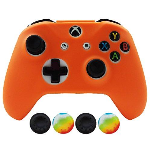 hikfly funda de driver de silicona para XBOX ONE S/mando de Xbox One x, Anaranjado, Xbox One S/One X Skin