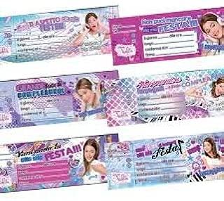 Biglietti Auguri Compleanno Di Violetta.Invito Compleanno Violetta Disney Amazon It Giochi E Giocattoli