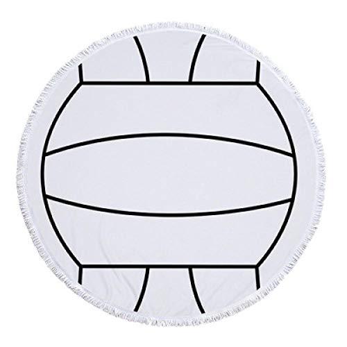 Epissche Fútbol Baloncesto Béisbol Impresión 150 cm Borla Gigante Manta de Playa Picnic Estera de Camping Toalla de Playa Redonda Mantón Colchón-3_Poliéster 300g