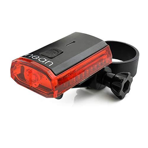 nean Fahrrad LED Rückleuchte Rücklicht mit Akku und StVZO Zulassung, 4 Candela