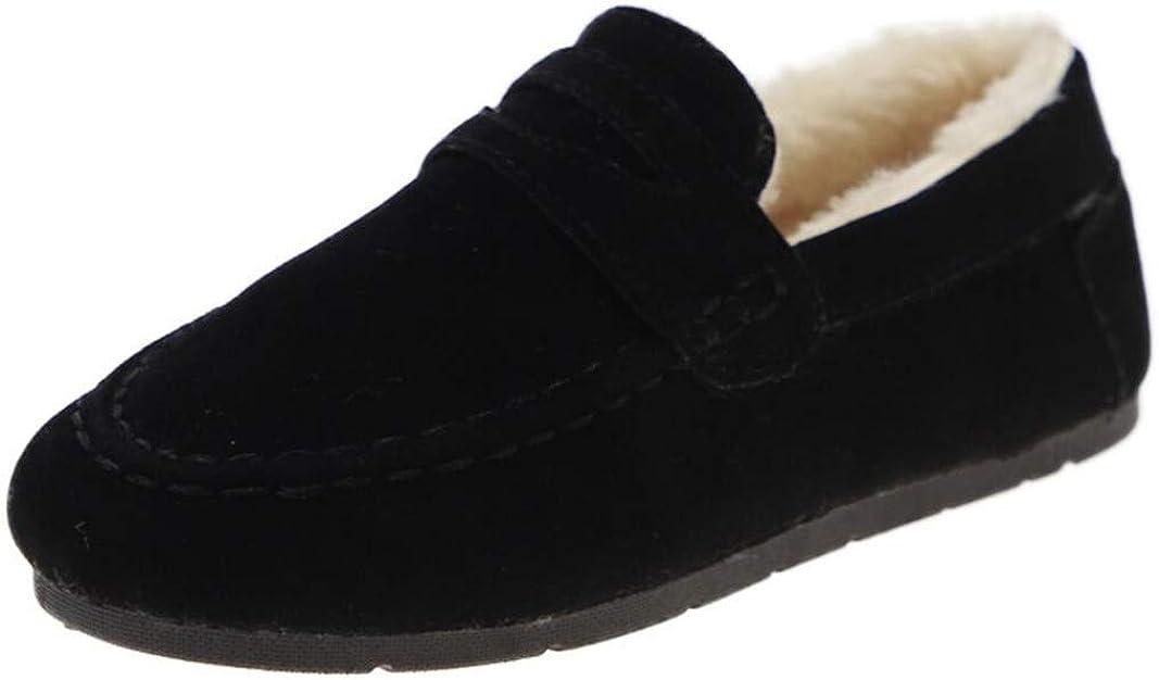 JGKDTX Kids Girls Boys Fluffy Casual Winter Warm Penny Loafer Slip On Moccasin Dress Shoes House Slippers Bedroom Indoor Outdoor