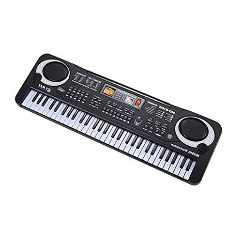 BIYI 61 teclas Teclado música electrónica Órgano