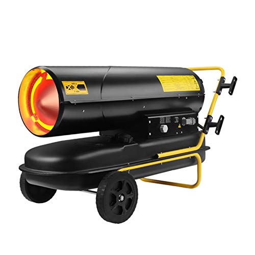 AIOEJP Calefactor de gasoil Directo 30kw, Termostato Ventilador axial Portátil, Exteriores, Obras, Talleres Calentador de Espacio de GLP