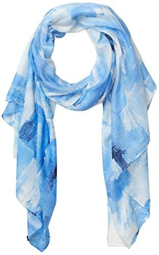 Karl Lagerfeld Paris Damen Shades of Blue Modal and Cotton Pareo Scarf Schal für kaltes Wetter, navy, Einheitsgröße
