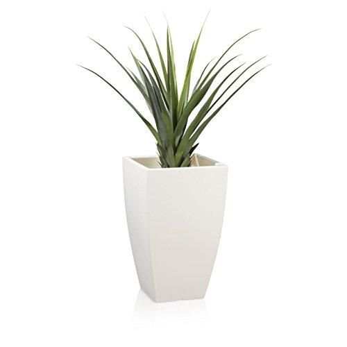 Pot de Fleurs Plastique TARRO PLAZA 65, 40x40x65 cm, blanc mat
