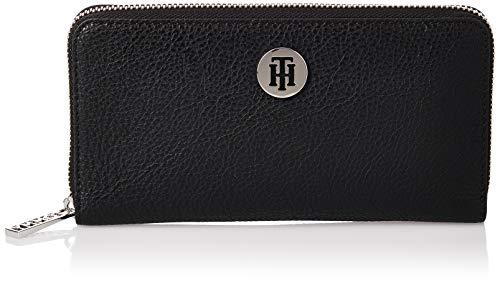 Tommy Hilfiger Damen Th Core Lrg Za Wallet Geldbörse, Schwarz (Black), 2.5x10.199999999999999x17.8 centimeters