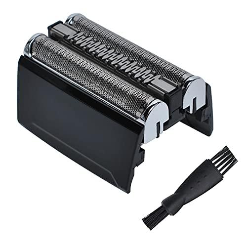 Poweka Ersatz Scherkopf 52B kompatibel mit Braun 5 Serie Elektrischer Rasierer 5020S 5030S 5040S 5050S 5070S 5090CC 52B 52S Serie mit Bürste
