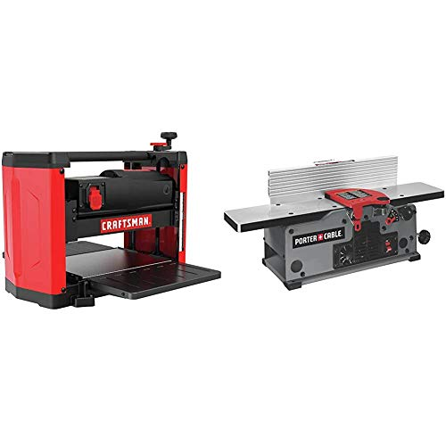 CRAFTSMAN Benchtop Planer, 15-Amp (CMEW320) & PORTER-CABLE Benchtop Jointer, Variable Speed, 6-Inch (PC160JT)