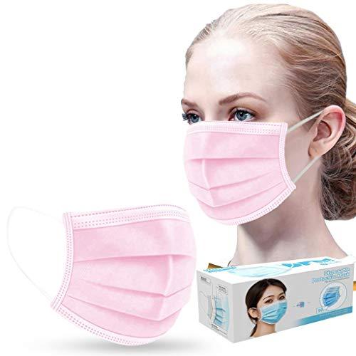 STYLEEinmal Mundschutz Schützen Sie Ihre Gesundheit in Besonderen Zeiten (Rosa, 100)