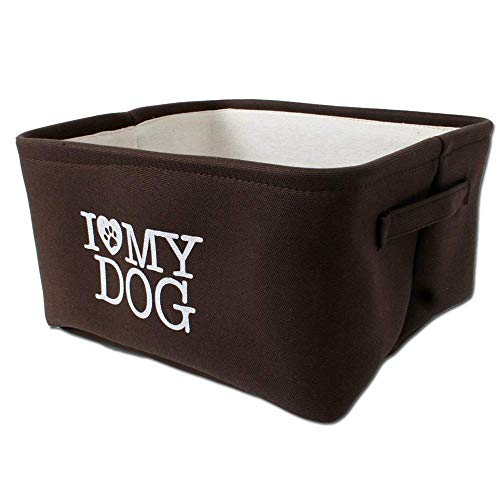 TE-Trend Hundekorb Hundebett Comfort Hundebox Welpen Körbchen Transport Dog Bed Braun Beige 36x31cm Trageschlaufen