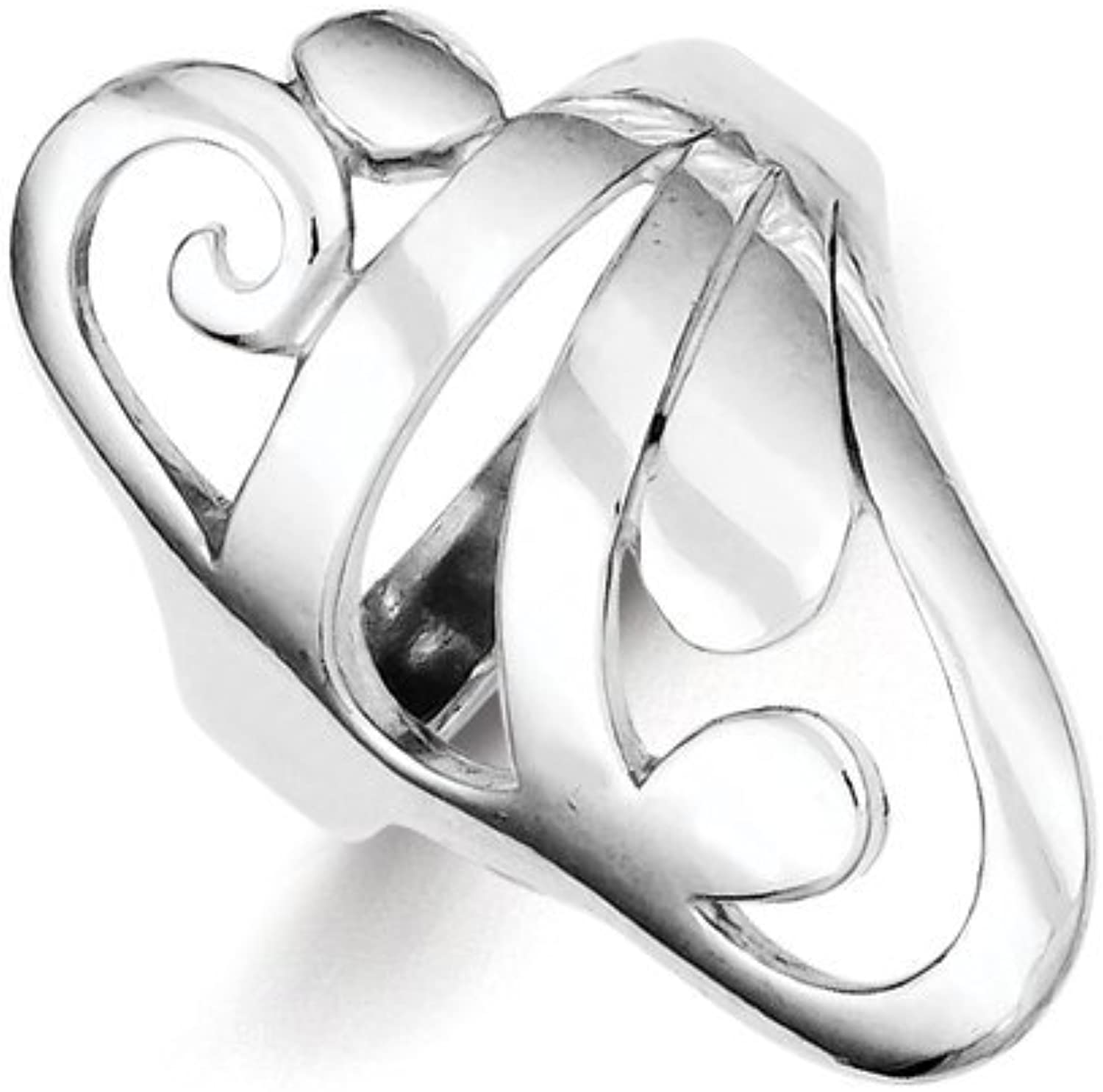 gold and Watches Sterling Silver Scroll Ring