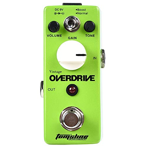 Tom'sline Overdrive Effect Pedal - Mini Guitar Vintage Overdrive 2 Modes for Electric Guitar with True Bypass (AGR-5D)