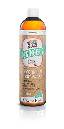 Dr. Ginger's Coconut Oil Pulling Mouthwash, 12 oz, 1 Count - Coconut Mint Flavor