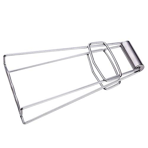 ZengBuks Multifunktions Faltbare Edelstahl Essen Clip Hot Dish Lifter Retriever Schüssel Clip Töpfe Geschirr Halter Clamp Küche Zange-Silber