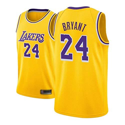 Camiseta de Baloncesto para Hombre, NBA, Los Angeles Lakers #8#24 Kobe Bryant. Bordado Swingman Transpirable y Resistente al Desgaste Camiseta para Fan (XXL)