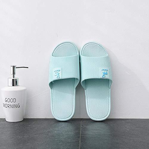 HUSHUI Zapatillas Sandalias de Playa Interior,Zapatillas de baño Antideslizantes, Zapatillas de Pareja de Interior para el hogar-Sky Blue_38-39,Mujeres Zapatos de Piscina Chanclas
