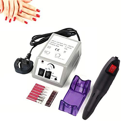Elektrische Nagelfeile, Nagelfräser 20000 u/Min Einstellbarer Geschwindigkeit, Fräser Maniküre Pediküre Set, Negelpflege Kit für Acrylnägel Gelnägel Kallus Entfernen