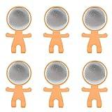 Tnfeeon Gancho para Soporte de Cepillo de Dientes, Juego de 50 Juegos de Soporte Adhesivo para Cepillo de Dientes de 58 mm, Cubierta de Insignias en Blanco montada en(Naranja)