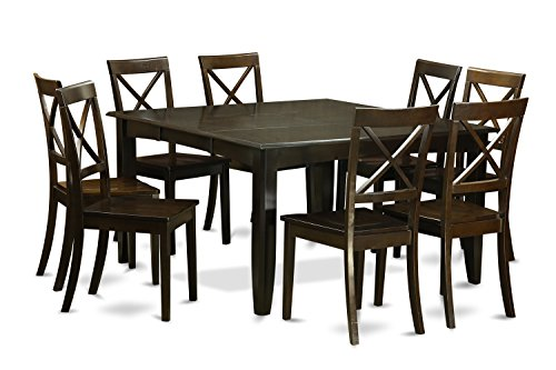 9 Pc Dining room set Kitchen Table with Leaf and 8 Dinette Chairs.