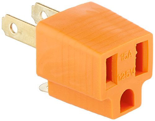 CableWholesale Cable Wholesale 3 Prong to 2 Prong Grounding Converter (30W1-32200)