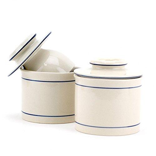 Norpro Stoneware Butter Dish/Crock Keeps Fresh 4' 2-P