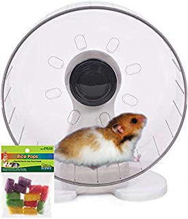 Syrian Hamster Wheel: 9.5 inch Prevue Quiet Wheel with Bearings Bundled with Ware Rice Pops