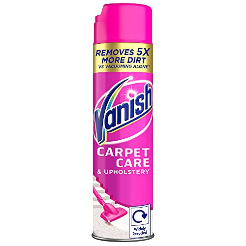 Vanish Carpet Cleaner + Upholstery, Gold Power Foam Shampoo, Large Area Cleaning, 600 ml
