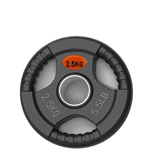 Ownlife Standard Gummi Gusseisen Hantelscheiben Sets, Langhantel Hantel Platten, Teller for Gewichtheben Bodybuilding Scheibenplatte (Größe : 2.5KG)
